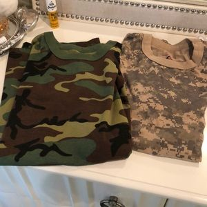 Two men shorts size small both camo